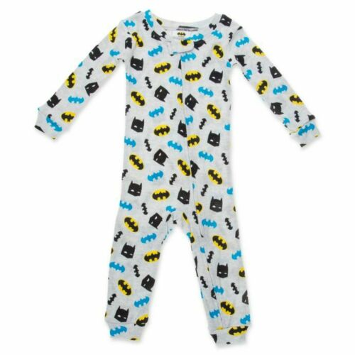 NWT Warner Bros Batman Footless Cotton Sleeper Pajamas Coverall
