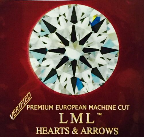 2Ct loose Simulated Diamond,Round,8 Arrows/&Hearts,8.0mm,VV1 Clarity,D Color