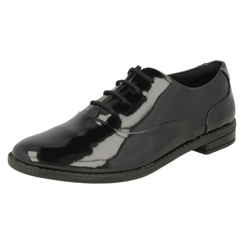 negro niñas cordones Clarks para con Star escolares Drew de Zapatos charol F4qYSvYw