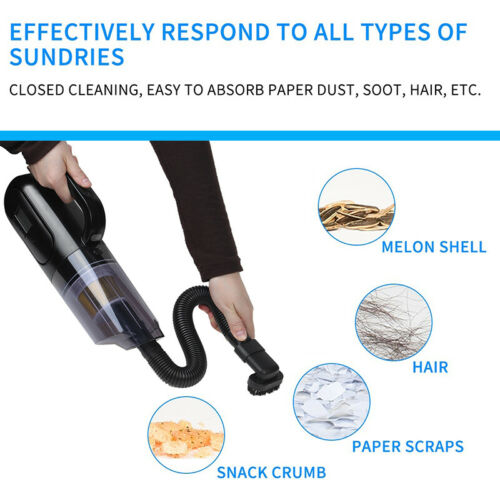 250W 25000PA Handheld Car Vacuum Cleaner Strong Suction Wet Dry Duster FF