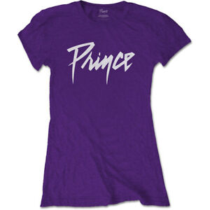 Ladies-Prince-Purple-Rain-Logo-Official-Tee-T-Shirt-Womens-Girls