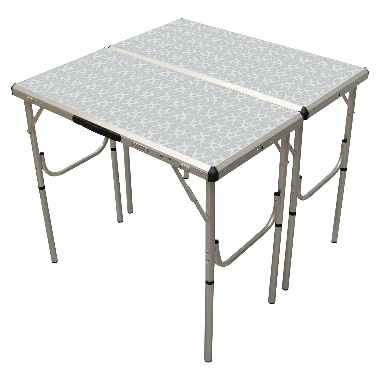 4 In 1 Adjustable Height Folding Camping, Hiking, Fishing Indoor Outdoor Table
