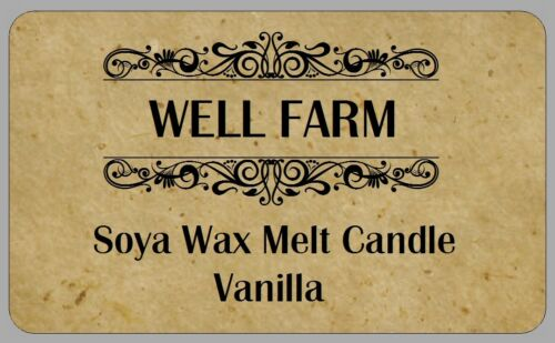 21 VINTAGE STYLE SOYA WAX CANDLE STICKERS HANDMADE SOAP WAX LABELS PERSONALISED