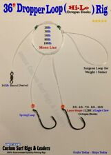 cod bass etc 1//0 2//0 3//0 4//0 5//0 20 x  Mixed Pully Pennel sea Fishing Rigs