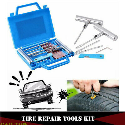 13pcs Tire Repair Kit Tyre Repairing Tool Set for Automobiles Motorcycles with Box
