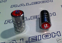"RALEIGH BUDGIE, CHOPPER, GRIFTER, TOMAHAWK 2 x ""R"" LOGO CHROME PLATED DUST CAPS"