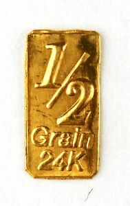1//3 GRAM GOLD BAR OF 24K PURE .999 FINE GOLD STRATEGIC BULLION A1a