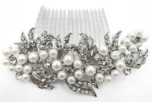 Wedding Bridal Hair Accessories Flower Hair Comb,Rhinestone Crystals 8092