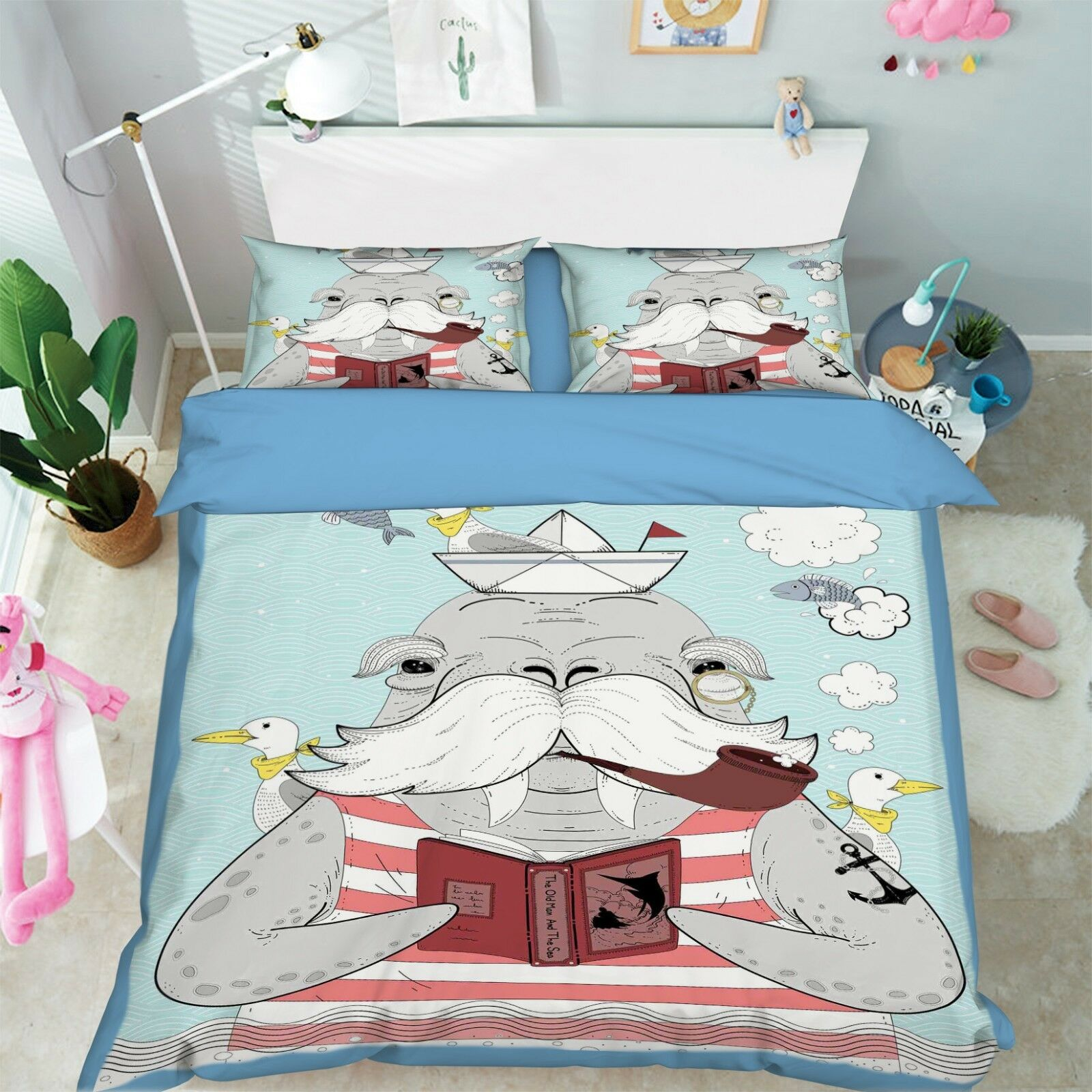 3D Old Animal 05 Bed Pillowcases Quilt Duvet Cover Set Single Queen King Size AU