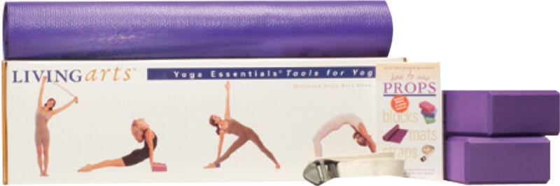 Yoga Living Arts Yoga Tool Set by Gaiam Blocks, Mat, Straps Beginner Exercise