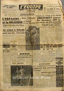Journal L'equipe N°2590 - 1954 - Ockers - Bahamontès - Chataway - Mimoun -