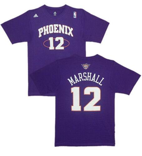 NBA T-shirt Phoenix Suns Kendall Marshall 12 Violet Basket maillot jersey