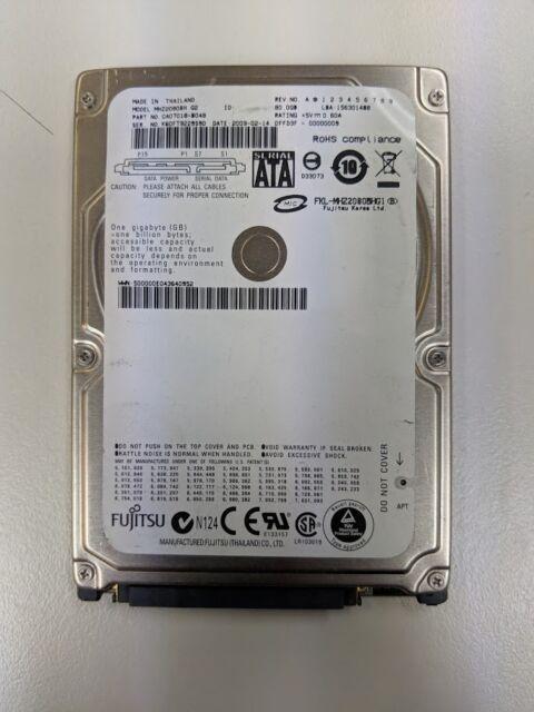 Fujitsu MHZ2080BH G2 YTTN CA07018-B46200C5 80GB HARD DRIVE