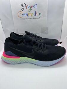 Nike-Epic-React-Flyknit-2-BQ8928-003-Black-Sapphire-Men-039-s-Running-Shoes-Sz-12-5