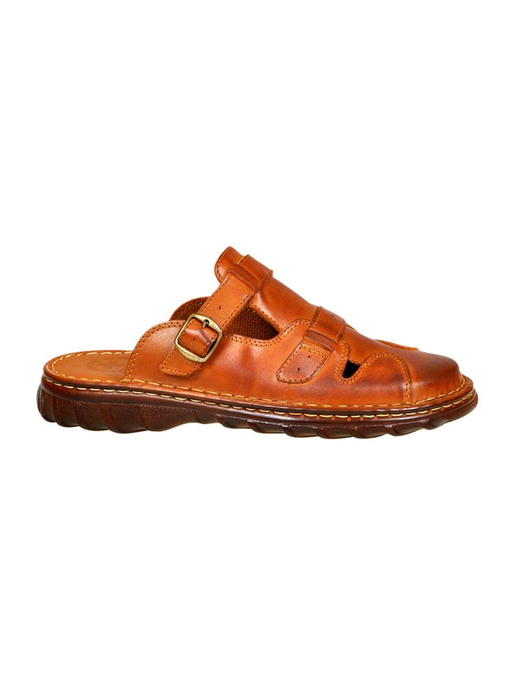 Top Men Orthopedic Genuine Buffalo Leather Sandals Slip On shoes UK Size 7-11