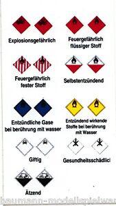 """Aufkleberbogen 11371 """"Gefahrgutkennzeichnung"""""""