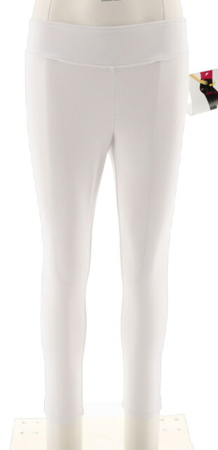 f803e53fc568b Wicked Women Control Petite Cropped Knit Leggings Slim Alabaster PS NEW  A288788