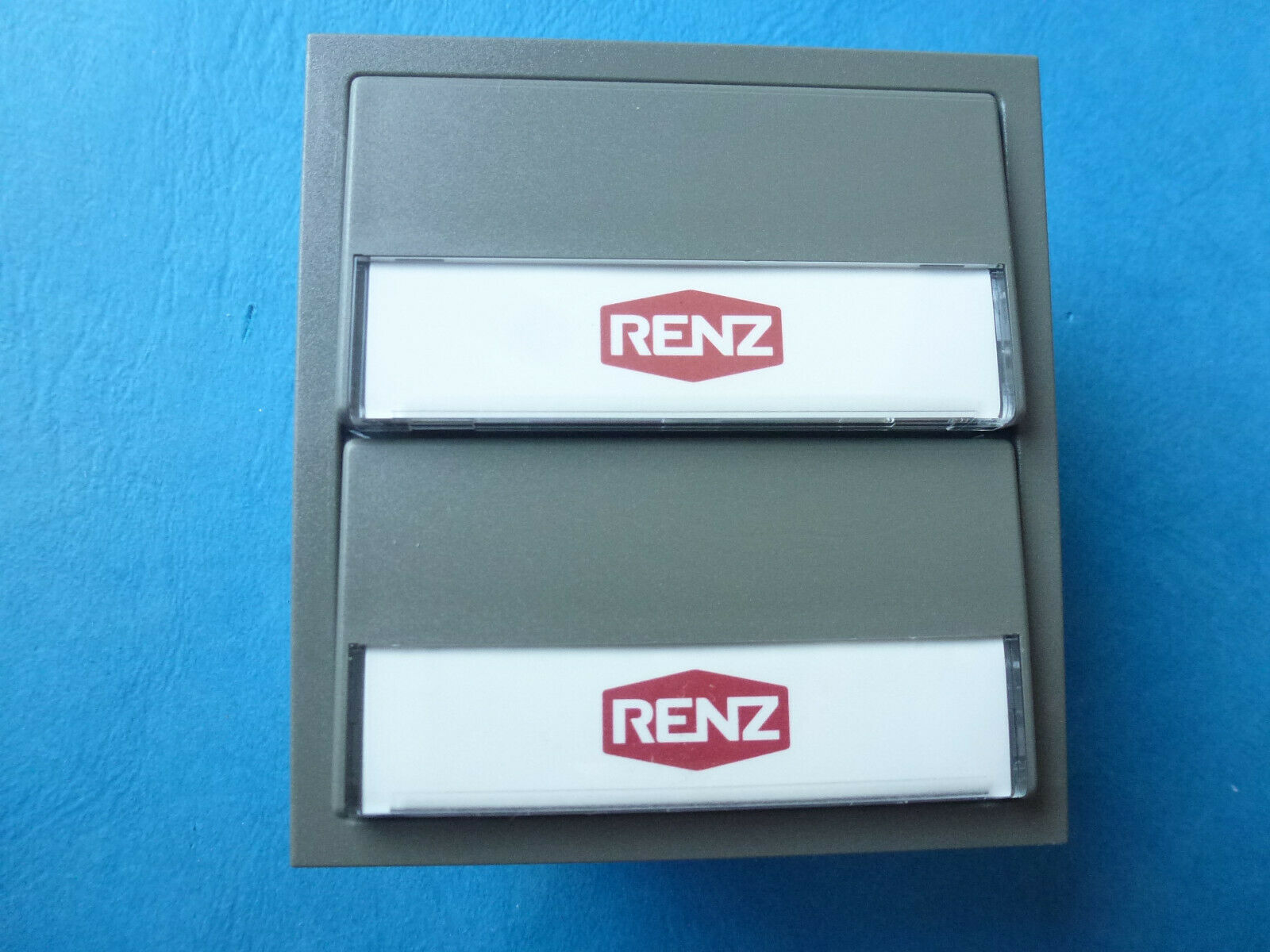 Renz Tastenmodul grau 7039g 97-9-85270 für 2 Mietparteien