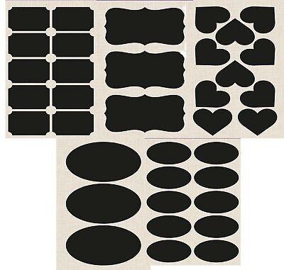 Eleganza Chalkboard Labels Rectangle Chalk Jar Stickers Blackboard Wedding Craft