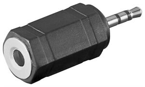 Audio-Adapter-stereo-Klinkenstecker-2-5mm-Klinke-Stecker-gt-3-5mm-Buchse