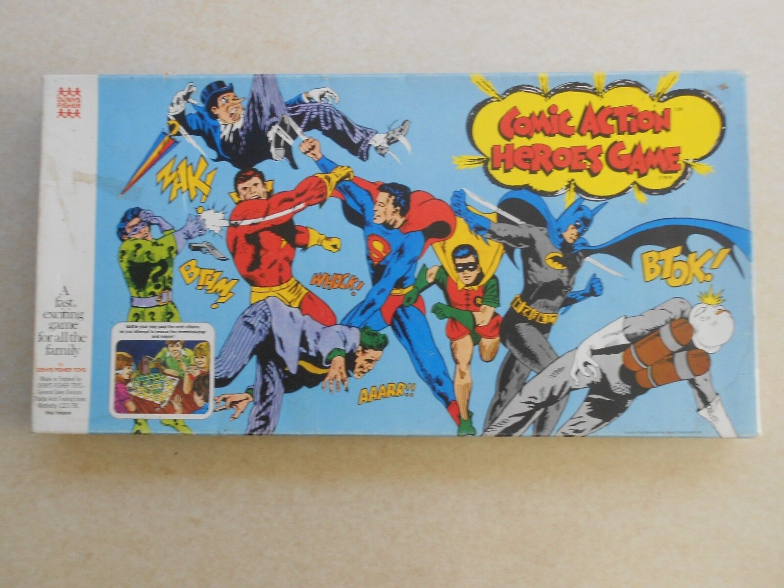 VINTAGE COMIC ACTION HEROES GAME - Denys Fisher 1976 - No Instructions