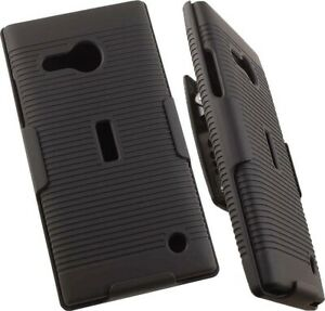 BLACK-CASE-COVER-BELT-CLIP-HOLSTER-STAND-FOR-NOKIA-MICROSOFT-LUMIA-735-730