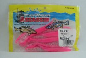 """Bass Assassin CSA27240 4"""" Curly Shad 10CT Color Albino Firetail 24161"""