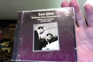 Emil-Gilels-Beethoven-Piano-Concertos-45-amp-5-used-CD-very-nice
