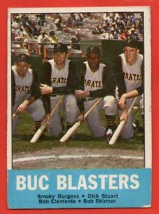 1963 Topps #18 Buc Blasters VG/ MARKED Roberto Clemente Pittsburgh Pirates