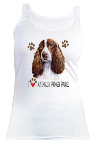 English Spring Spaniel Motiv Damen T-Shirt Damenshirt Hunde Cocker Spaniel