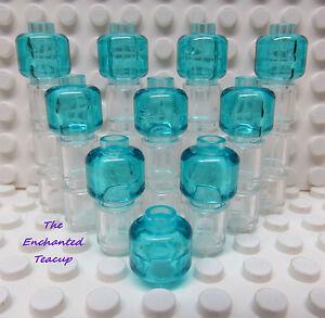 NEW bulk lot Head Plain LEGO x 20 Blue Minifig
