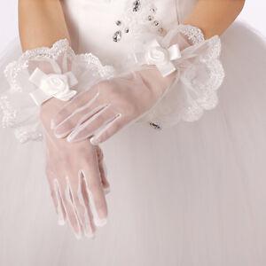 Wrist-Length-Flower-Lace-white-finger-Bridal-wedding-party-prom-gloves