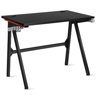 Gaming Desk PC Table Computer Desk w/Headphone & Cup ...