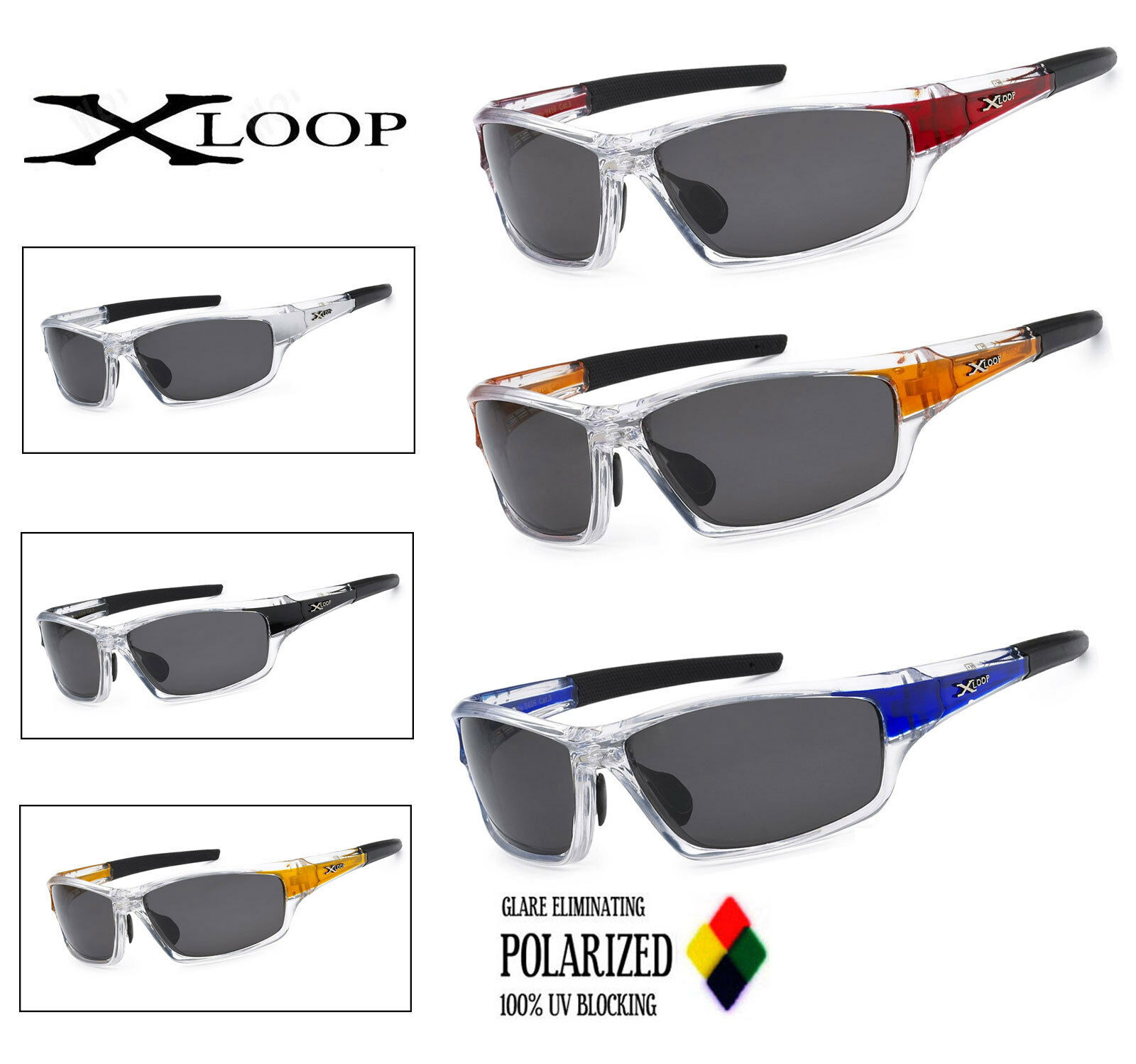 11e1e8c7753 Details about Xloop Polarized Summer Winter Water Sport Glasses Fishing  Mens Womens Sunglasses