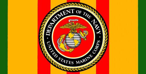 Vietnam Veteran Army Navy Air Force Marines Ribbon Seal High Gloss License Plate