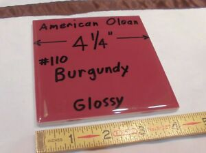 Details About 1 Pc Burgundy Glossy Ceramic Tile By American Olean 4 Discontinued New