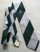 VINTAGE CLUB ASSOCIATION TIE AGE SILVER DARK GREEN STRIPED 1960'S 1970'S RETRO