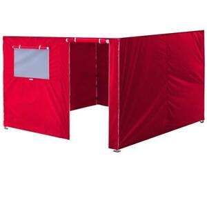 10x10 Red Zipper Side Walls Panel Kit For Outdoor Ez Pop