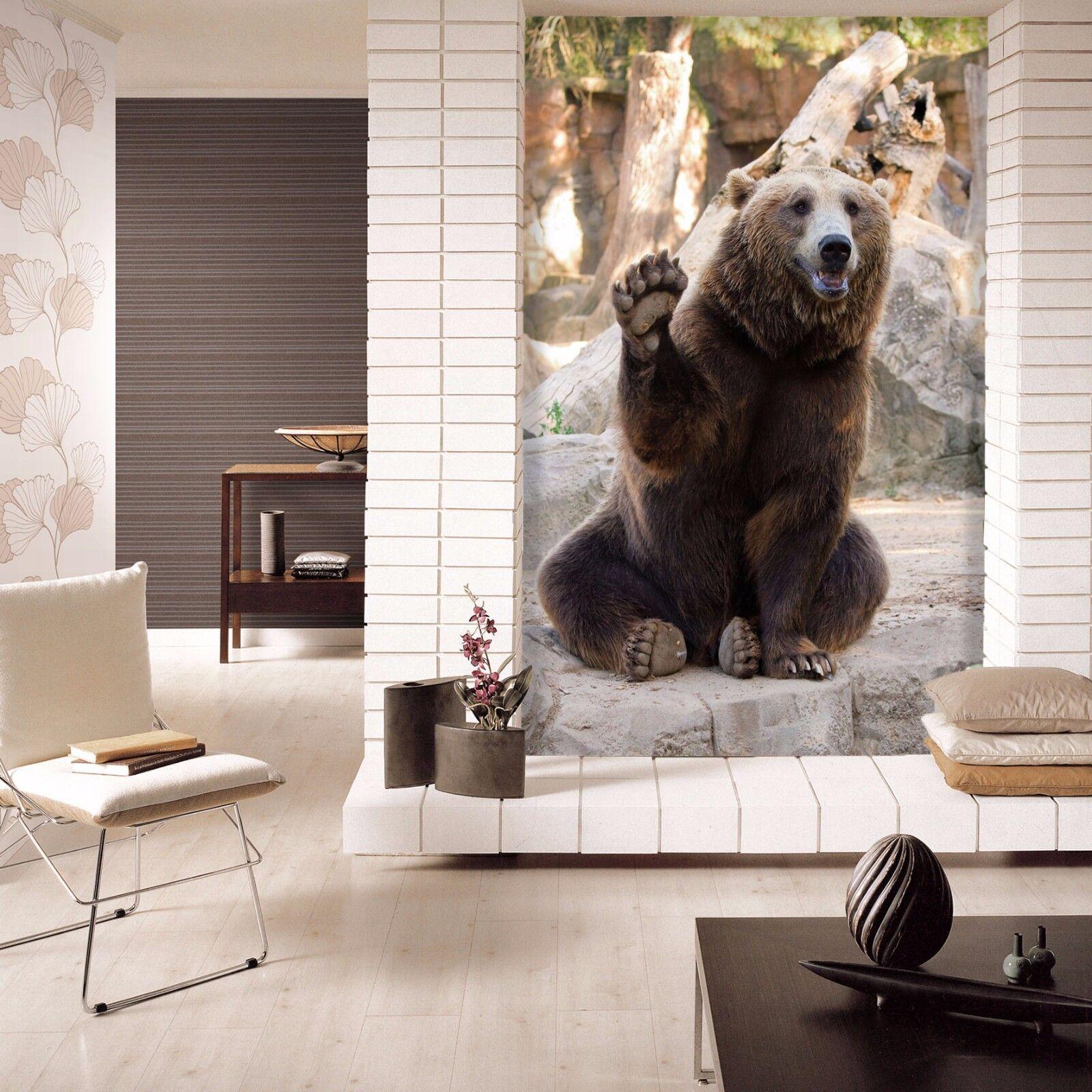 3D Interesting Bear 1219 Paper Wall Print Wall Decal Wall Deco Indoor Murals