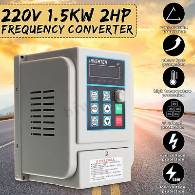 0.75//1.5//2.2//4KW Single To Three Phase VFD Variable Frequency Drive Inverter CNC