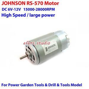 JOHNSON-RS-570-Motor-DC6V-9V-12V-28000RPM-High-Speed-DIY-Screwdriver-Drill-Tools