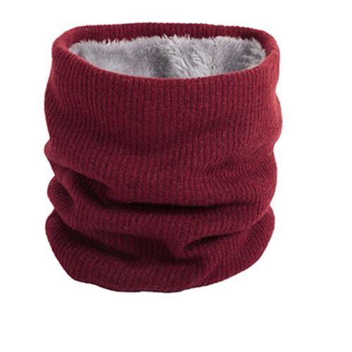 Mens Women Fleece Infinity Scarf Winter Warm Knitted Scarves Neck Collar Bandana
