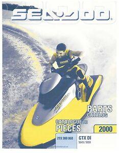 sea doo parts manual book 2000 gtx di 5649 5659 ebay rh ebay com 2000 seadoo gtx rfi parts manual 2000 seadoo gtx parts list