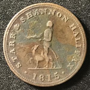 Canada-1815-Half-Penny-Token-Un-Sou-NS-11A1-Breton-884-J-027
