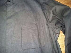 Armani-Collezioni-rare-Uomo-Camicia-black-mens-lightweight-jacket-shirt-size-52