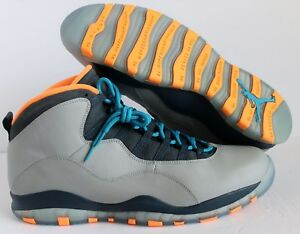 18b70fb7ad6a NIKE AIR JORDAN RETRO 10 BOBCATS WOLF GREY-POWDER BLUE SZ 18  310805 ...