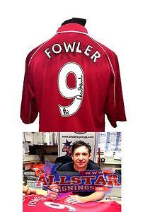 b41aa8da4f2 robbie fowler signed liverpool 9 2001 uefa final football shirt with coa ...