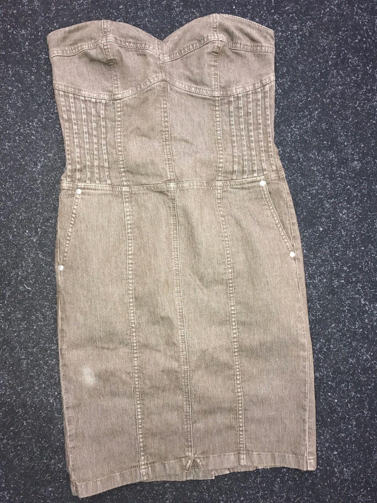 Escada Sport abito jeans abito morbido corsagenkleid SWAROSKI ELEMENTS withuvp  329e
