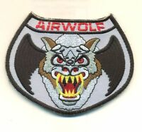 Airwolf Helicopter Pilot Vel-kro Patch - Awf01v