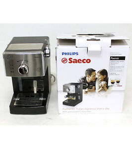 Philips Coffee Maker Hd8325 : Philips Saeco HD8325/47 Poemia Manual Espresso Coffee Machine Black AS IS eBay